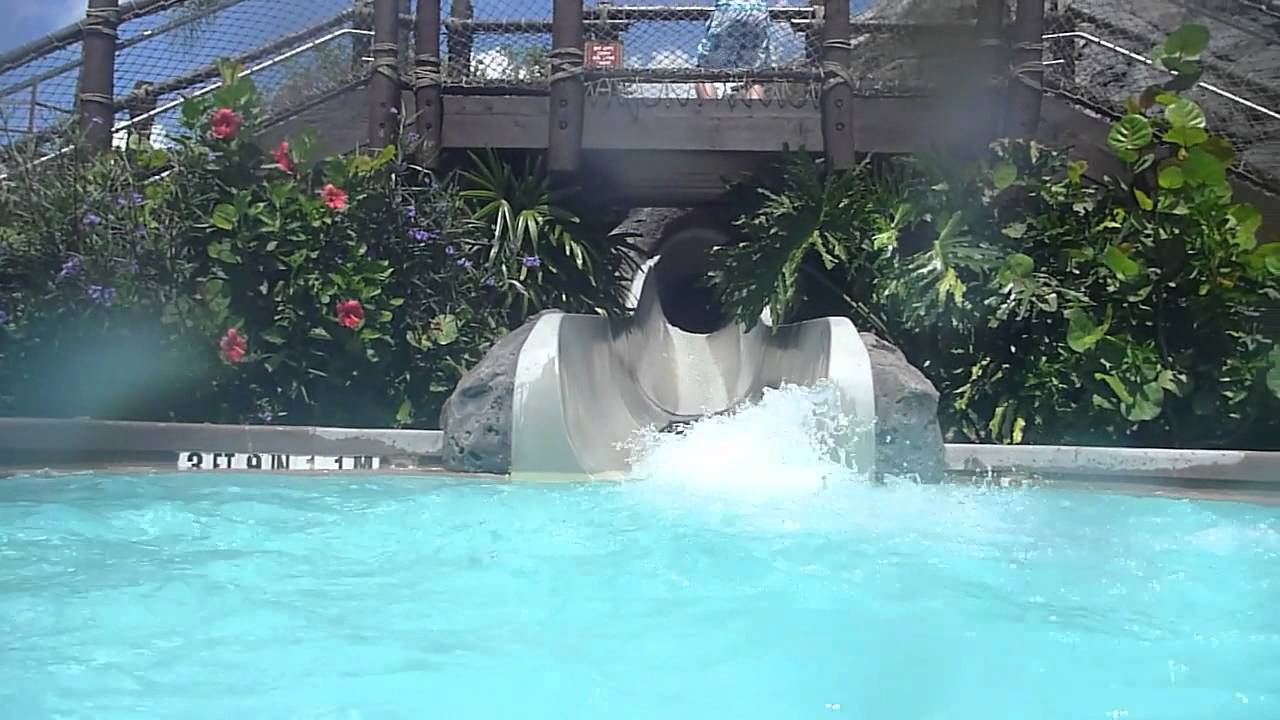 Disney S Polynesian Resort Pool And Slide Youtube