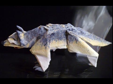 hd origami wolf tutorial youtube