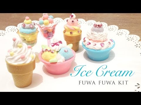 Fuwa Fuwa Glitter Ice Cream Kit - Kawaii Craft Tutorial (HD)
