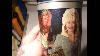 Dollywood commemorative beverage container.