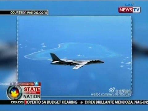Larawan ng nuclear-capable bomber aircraft ng China sa ibabaw ng Bajo de Masinloc, inilabas