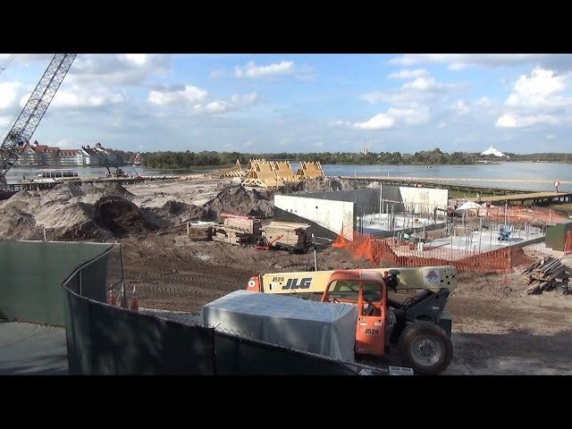 Disney's Polynesian Resort DVC Construction Update plus Lobby Waterfall - March, 2014