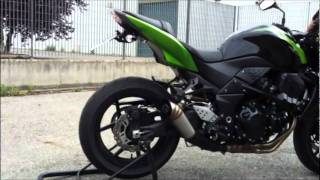 G&G GP exhaust sound on Kawasaki Z750 Z750R 2007-2013