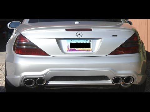 HOW TO REMOVE REAR BUMPER COVER DIY Mercedes R230 SL500 SL550 SL55 SL600 SL63 SL65 AMG