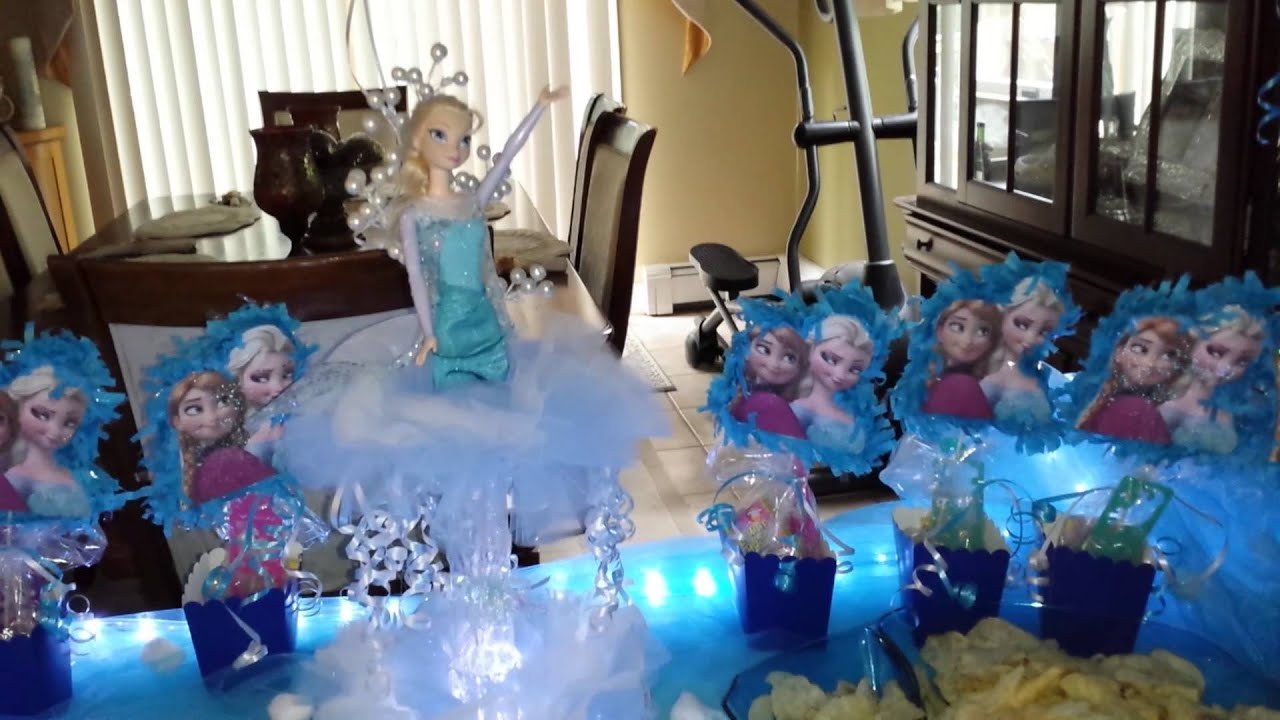 Frozen movie party ideas youtube for Home decorations ideas for free