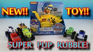 Paw Patrol Super Pup Rubble Crane NEW TOY Parody with Blaze and the Monster Machines