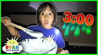 DO NOT MAKE FLUFFY SLIME AT 3am or 3pm! Omg so scary 3am Challenge