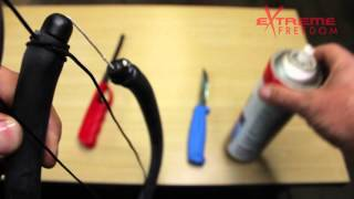 How to tie your speargun rubber bridle on.