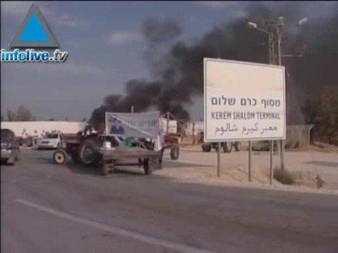 Des manifestants bloquent le passage de Kerem Shalom pour la