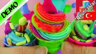 Play Doh Dondurma Sarayı Oyun Hamuru Seti Türkçe! - Kendimiz Rengarenk Dondurmalar Yapıyoruz!