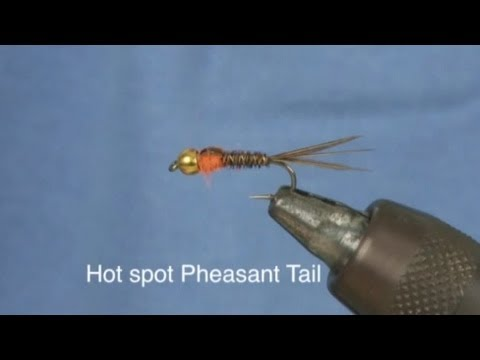 How to tie a Hot Spot Pheasant Tail Nymph from Fishtec - YouTube