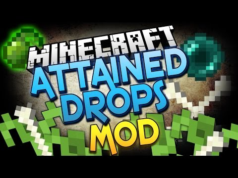 Minecraft Mod | GROWABLE MOB DROPS MOD! (Attained Drops) - Minecraft Mod Showcase