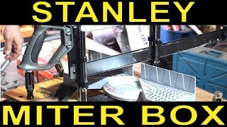 Stanley Miter Saw Box (20-800) Review and Use - Beginner Woodworking