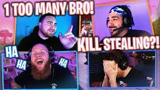 NICKMERCS STEALS ALL THE KILLS! FT. NICKMERCS, DRLUPO & LOS POLLOS (Fortnite Battle Royale)