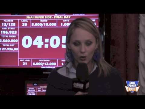 Snai Poker Cup 2012 – Side Event – Bolla 13 Players left