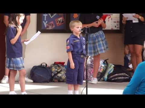 Rosary recitation at Blessed Pope John XXIII Catholic School