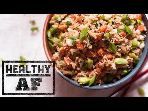 Vegan Cauliflower Fried Rice | Healthy AF