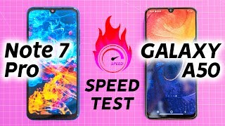 Redmi Note 7 Pro vs Samsung A50 Speed Test - Oh Mi God!🔥