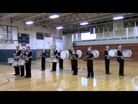 Rice Memorial High School Drumline- Pep Rally Fall 2013