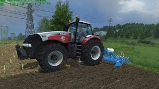 Farming Simulator 2013 Milling and Fertilization with Case Magnum 340