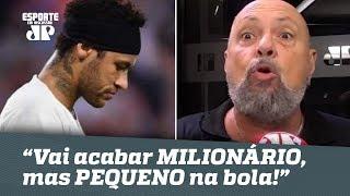 """Narrador PERDE A LINHA: """"Neymar vai acabar MILIONÁRIO, mas PEQUENO na bola!"""""""