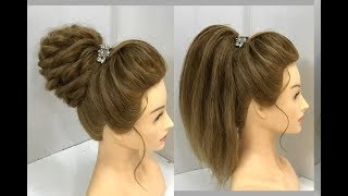 2 Beautiful Hairstyles for Medium Hair : Party Hairstyles