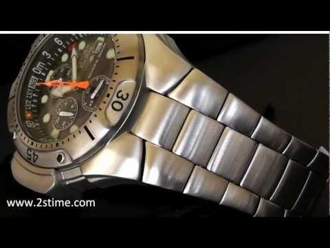 2S Time : CITIZEN Aqualand Promaster Diver BJ2040-55E Steel Bracelet