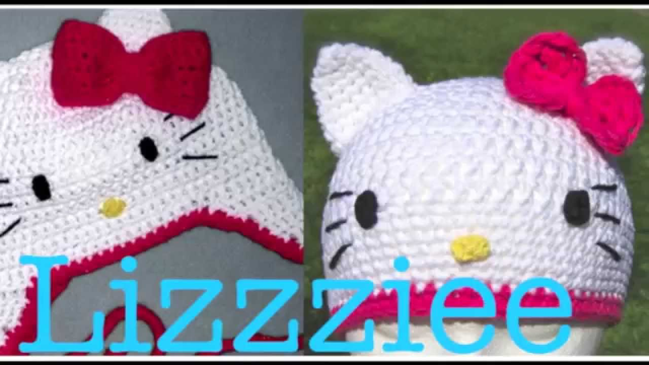 Free Crochet Pattern For A Hello Kitty Hat : Free Kitty Crochet Hat Pattern by Lizzziee - YouTube