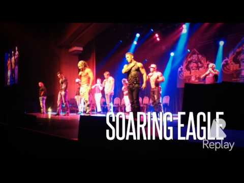 Hunks The Show getting naked at Soaring Eagle
