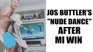 IPL 10: Jos Buttler dances without clothes to celebrate MI win over RPS in finals   Oneindia News