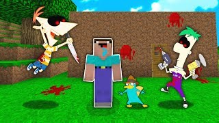 NOOB GẶP PHINEAS.EXE VÀ FERB TRONG MINECRAFT!!