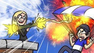 PARACHUTE VS RPG IN GTA V!! GTA 5 Online Funny Moments