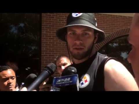 T J Watt Talks At Steelers Camp