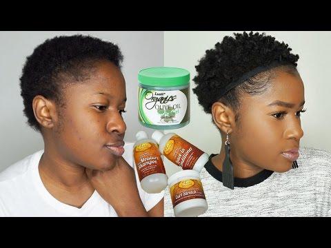 Styling My Short(TWA)4c Natural Hair Using Dollar Tree Natural Hair Products + Review!!! Mona B.