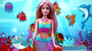 Barbie Shark | Baby Shark Dance Battle with Barbie Dreamtopia Rainbow Mermaid