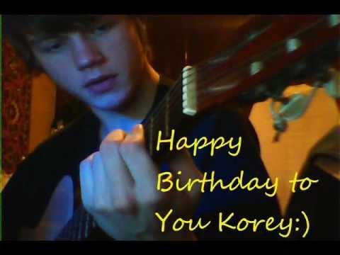 Happy birthday Korey 2012