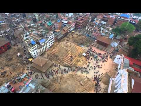 Drone Footage Captures Aftermath of Nepal Earthquake