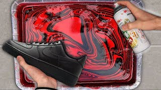 HYDRO Dipping AIR Force 1's!! (Giveaway)