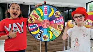 1 SPIN = TOYS VS  DARE!! Spin Wheel Challenge - LOL Surprise Dolls | Toys AndMe