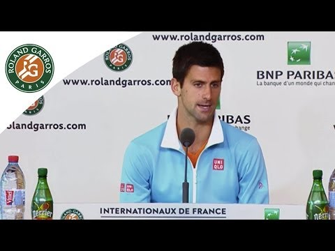 Press conference Novak Djokovic 2014 French Open R3