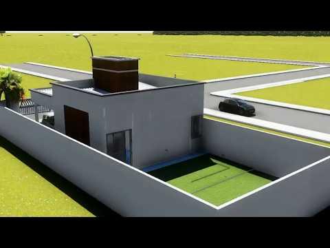 Natan fontes casa 70m for Casa moderna 7x20