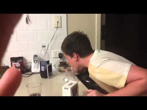 Guy eats 1 large table spoons of bi-carb soda