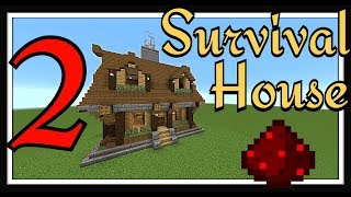 Minecraft Tutorial : Survival House Part 2 Interior