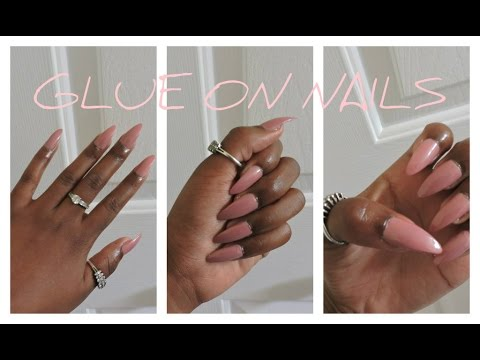 How To: Make FAKE nails look SALON DONE   Stiletto Nails   Svblewan
