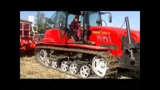 Зеленый гусеничный трактор Беларус МТЗ-1502-01
