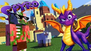 Monster School : SPYRO THE DRAGON REIGNITED TRILOGY GAME CHALLENGE - Minecraft Animation