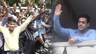 Salman Khan WISHES Fans Eid Mubarak, Waves From Galexy Apartment