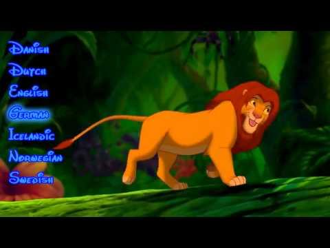 Lion King - Hakuna Matata (one-line Germanic multilanguage)