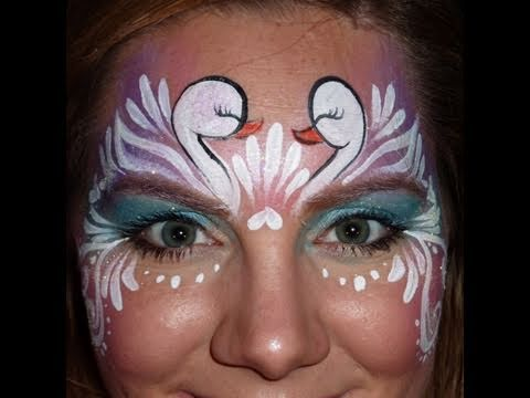 Swan Face Makeup Swan Princess Face Painting