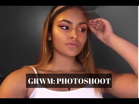 GRWM: Photo Shoot   makeup tutorial+EASY mini hair tutorial